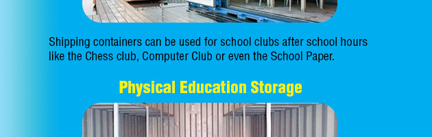 Shipping Containers in Schools and their Many Uses