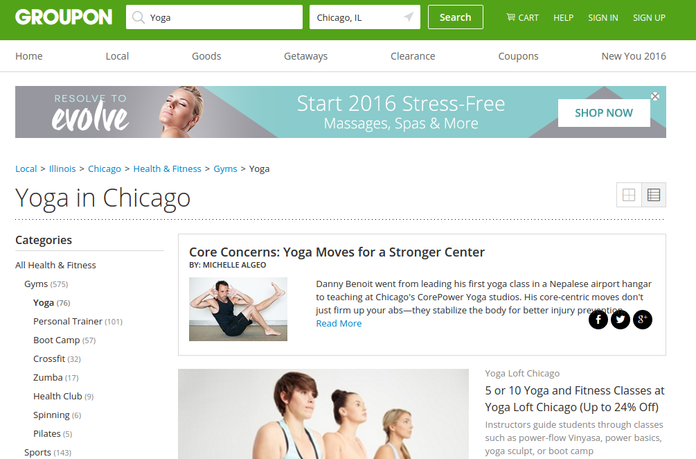 Stay active and save money on Yoga classes with Groupon
